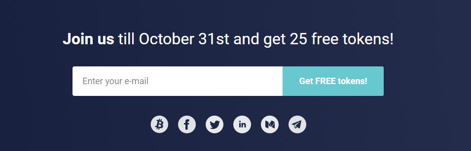 25 tokens gratis crypterium
