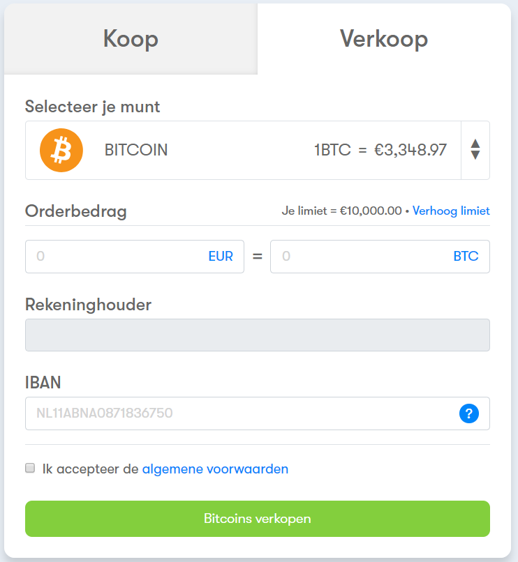 BTC Direct Bitcoin verkopen