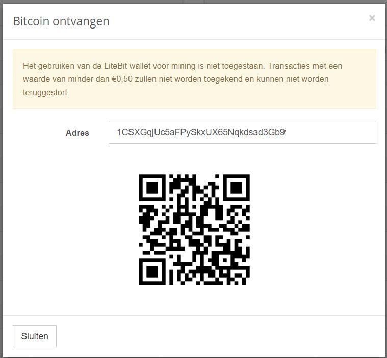 Bitcoin ontvangen Litebit