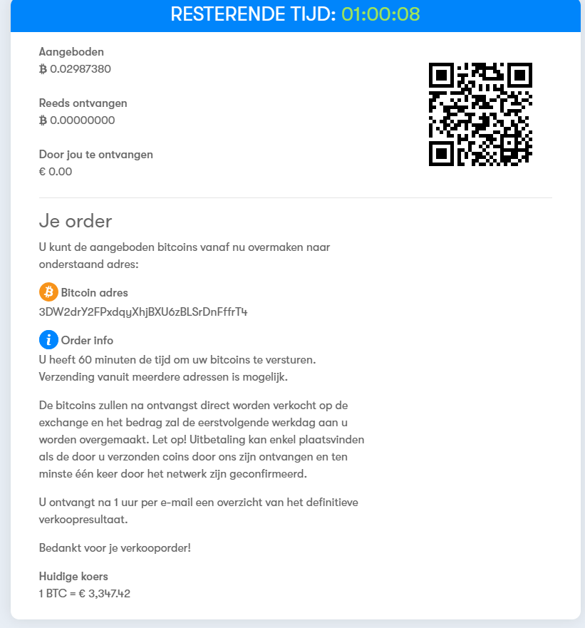 Bitcoin verkopen BTC Direct