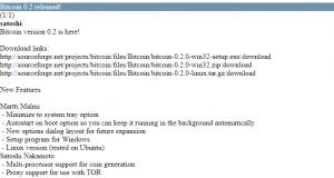 Bitcoin versie 0.2 komt uit