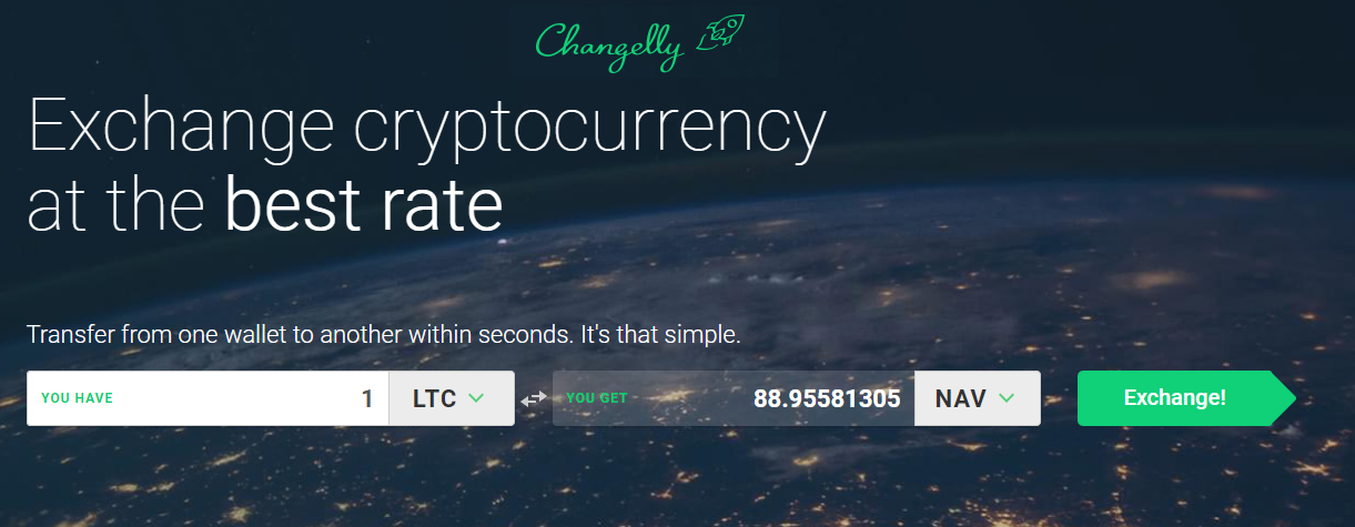 Changelly NAV Coin omwisselen