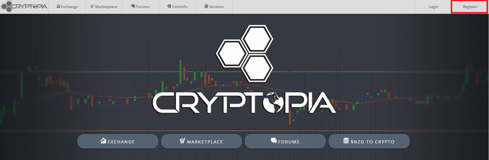 Registeren bij Cryptopia