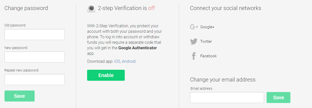 2 steps verificatie aanzetten