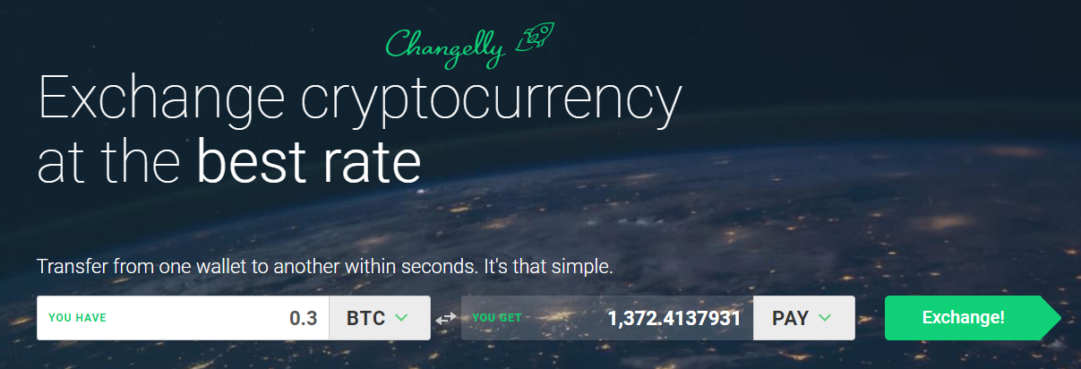 TenX kopen Changelly Exchange