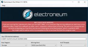 Electroneum miner computer