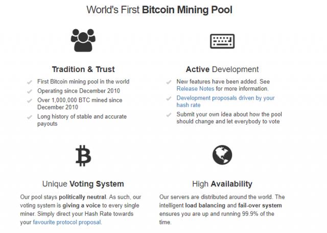 Slush pool en mining pools bitcoin geschiedenis