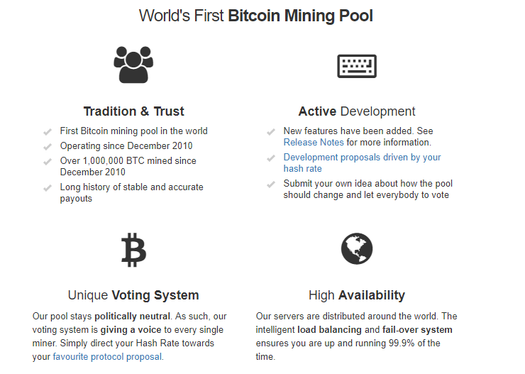 Slush pool en mining pools bitcoin geschiedenis