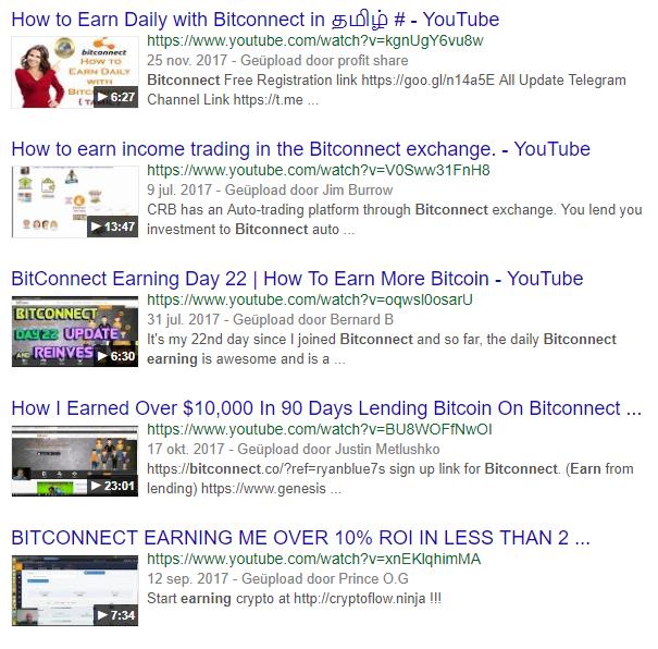 BitConnect inkomen