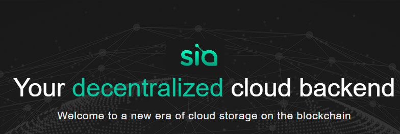 Sia Siacoin cloud