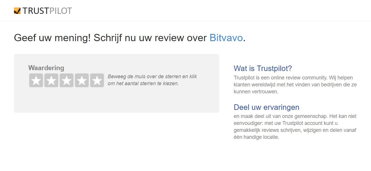 Bitvavo Trustpilot