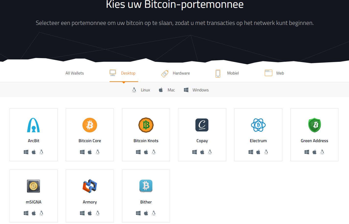 Software wallets crypto desktop