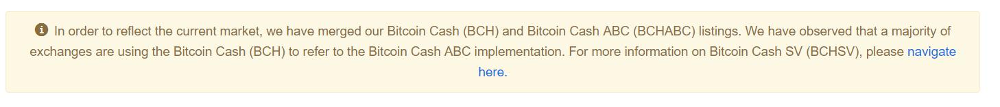 Bitcoin Cash Bitcoin ABC