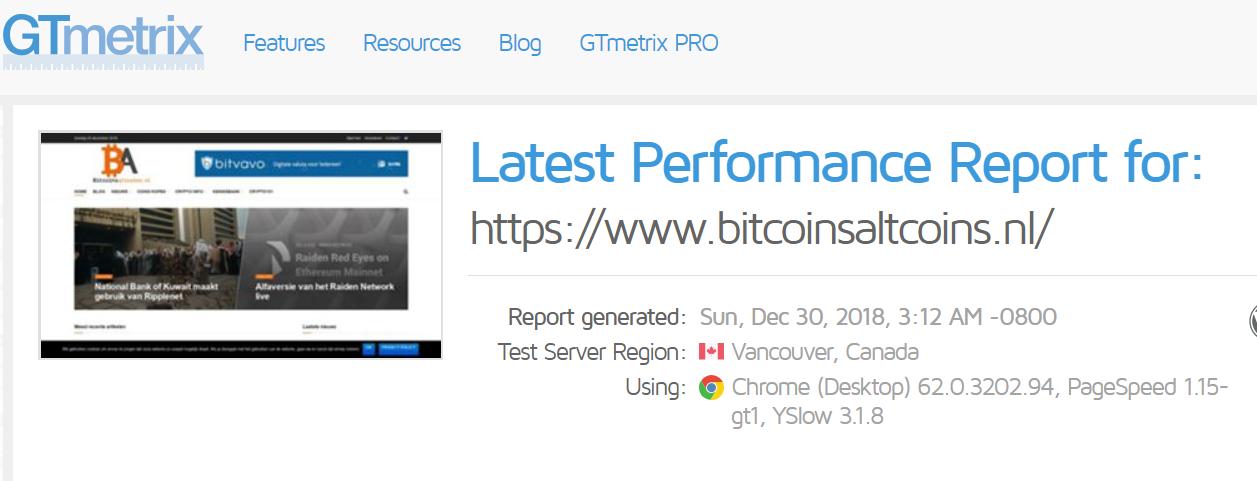 Bitcoinsaltcoins snelheid update