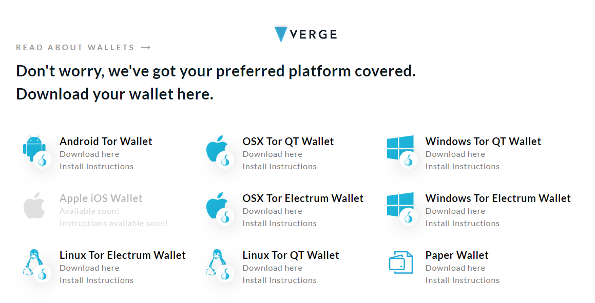 Beste Verge XVG wallets