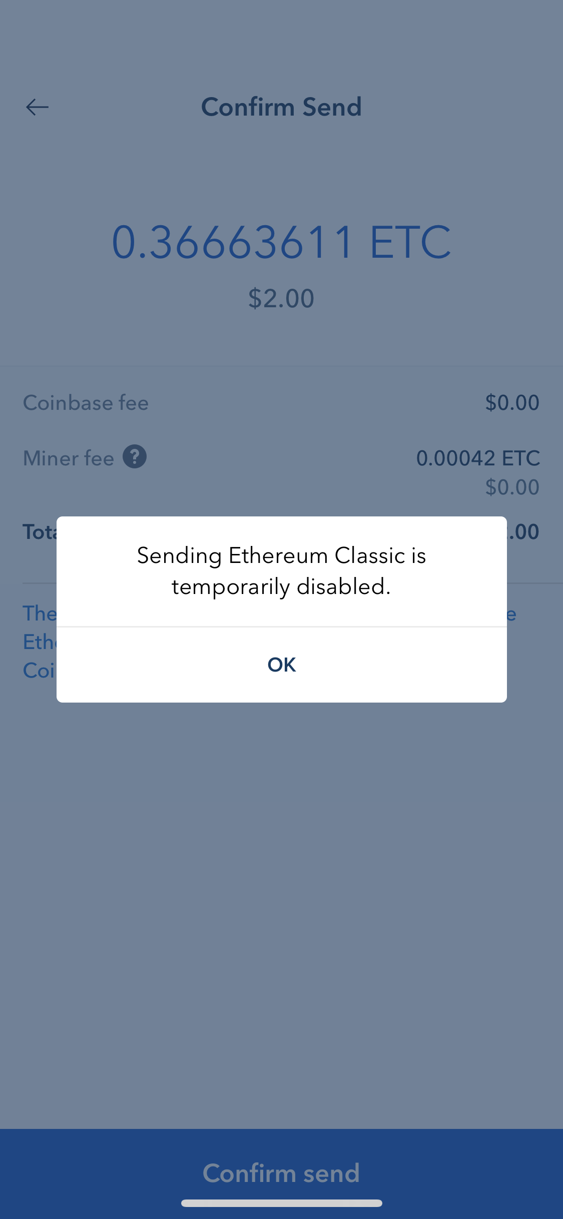 Coinbase Ethereum Classic hack