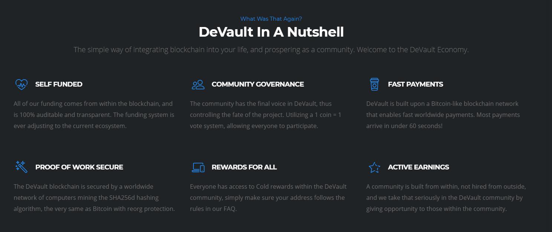 Devault info crypto