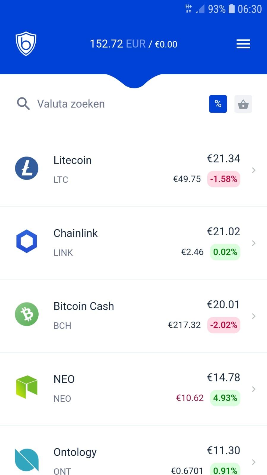 Screenshots schoonvader koopt crypto