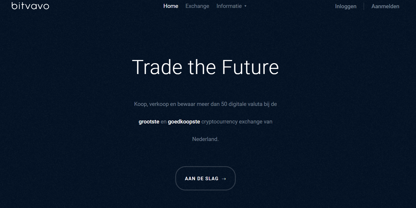 Bitvavo homepage