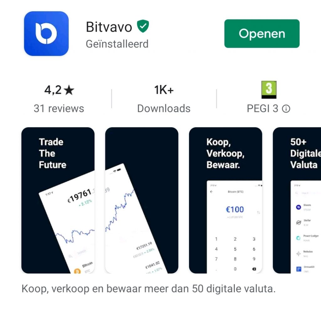 App Bitvavo iOS en Android