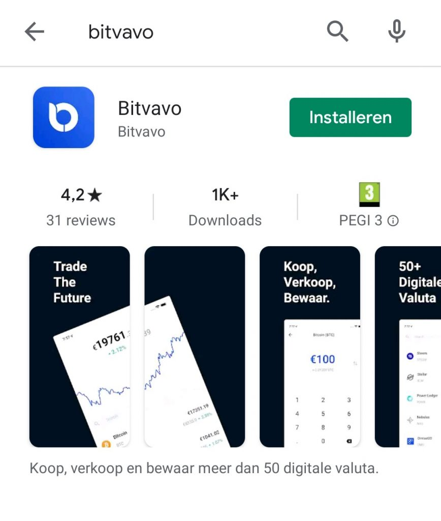 Bitvavo app downloaden